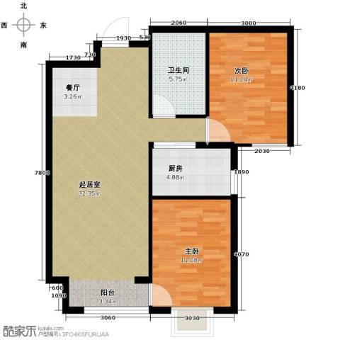 华茂名居2室2厅1卫0厨93.00㎡户型图