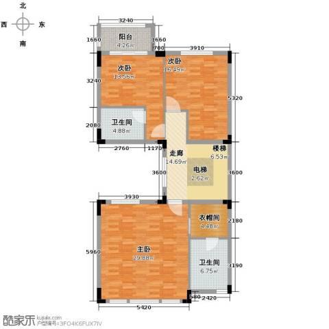 金地湖山大境3室0厅2卫0厨260.00㎡户型图