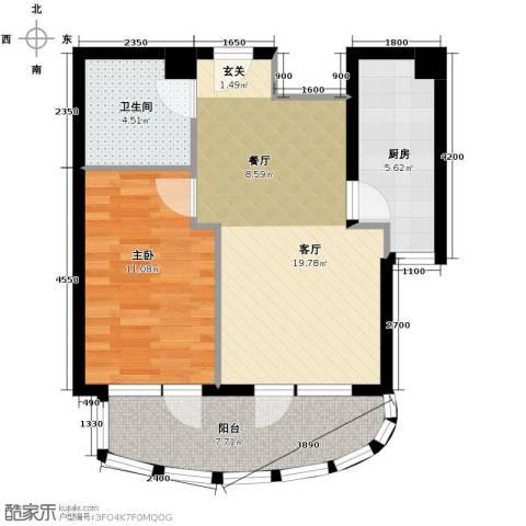 山海同湾1室2厅1卫0厨70.00㎡户型图