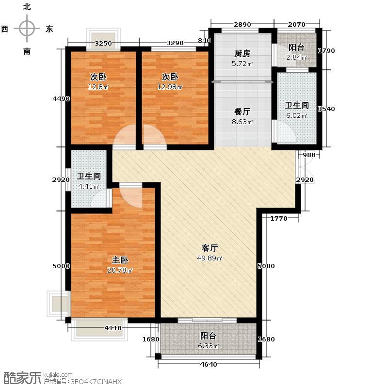龙门一号138.01㎡A-1138户型10室