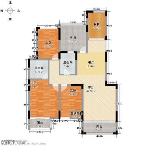 汇置尚都3室2厅2卫0厨140.00㎡户型图