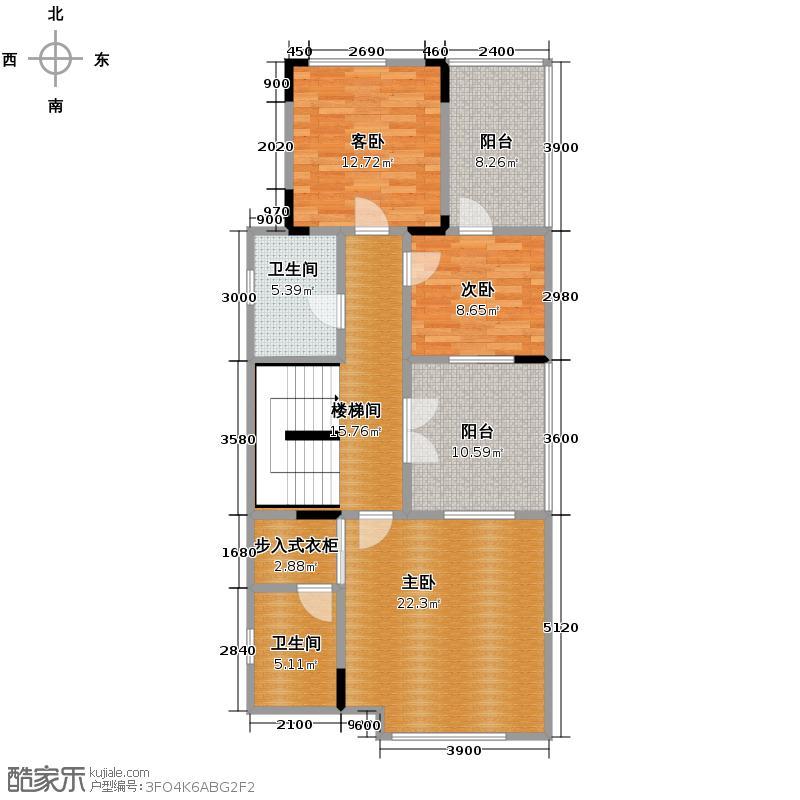 招商钻石山184.00㎡叠上二层户型10室