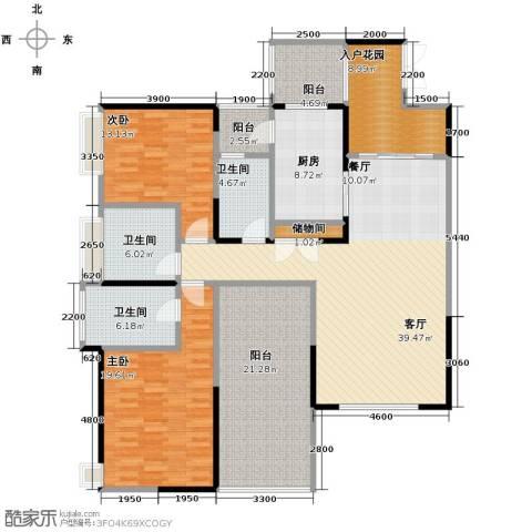 长城半岛城邦2室1厅3卫1厨141.00㎡户型图