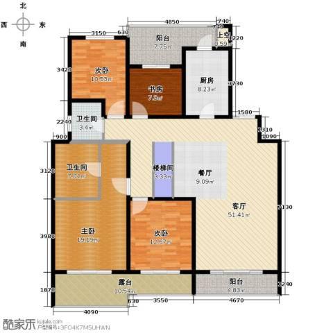 万业・观山泓郡4室2厅2卫0厨155.00㎡户型图