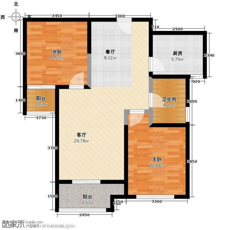 金业缇香山54.52㎡C7户型2室2厅1卫