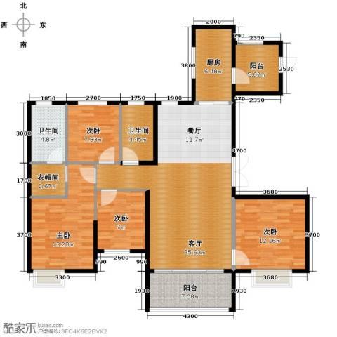 恒大名都4室2厅2卫0厨144.00㎡户型图