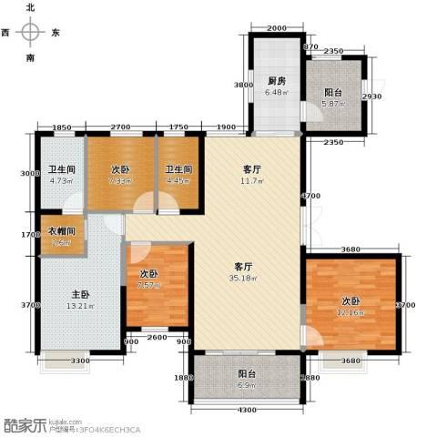 恒大名都4室2厅2卫0厨151.00㎡户型图