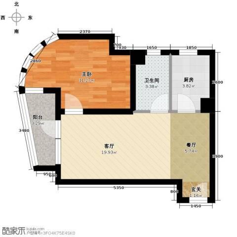 山海同湾1室2厅1卫0厨65.00㎡户型图