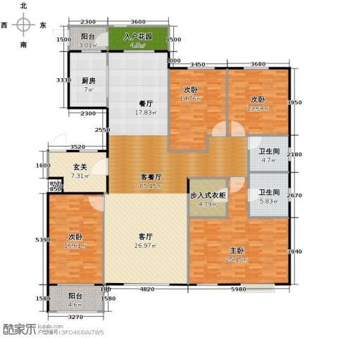 天成・明月洲4室2厅2卫0厨215.00㎡户型图
