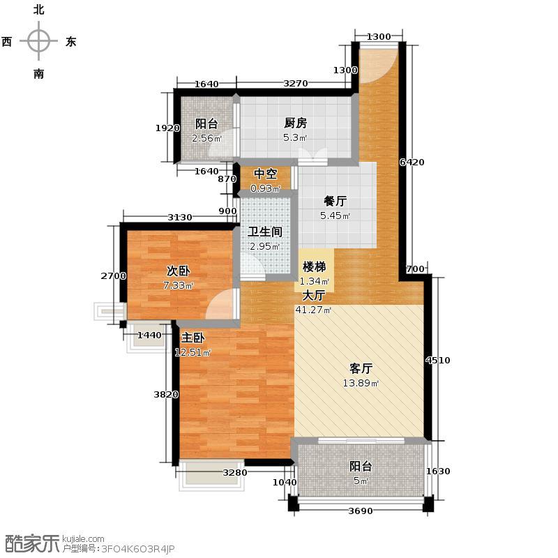 水木新华116.29㎡LL复式下层户型4室2厅2卫