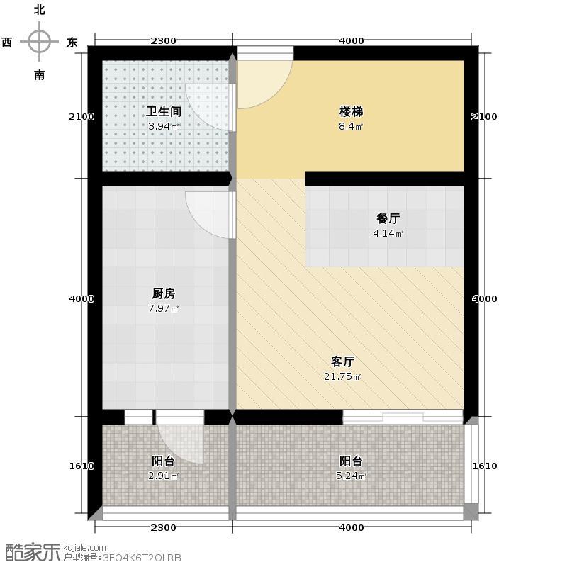 新世家小区48.59㎡I首层户型2室2厅1卫