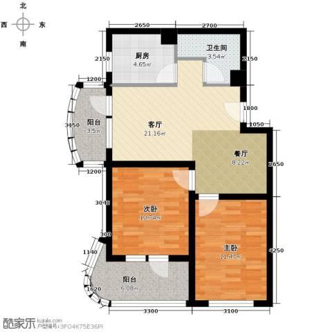 山海同湾2室2厅1卫0厨89.00㎡户型图