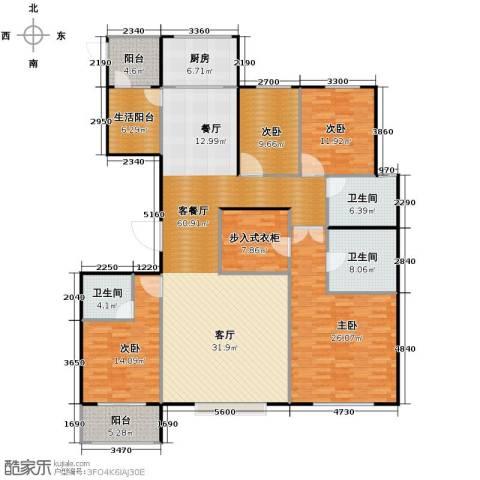 天成・明月洲4室2厅3卫0厨201.00㎡户型图