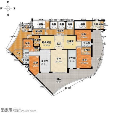 龙湖世纪峰景6室3厅4卫0厨504.96㎡户型图