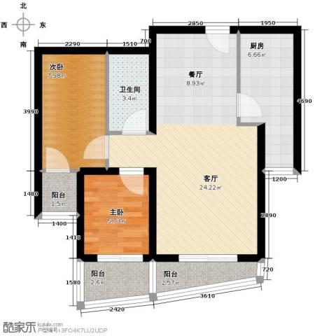 新世家小区2室2厅1卫0厨94.00㎡户型图