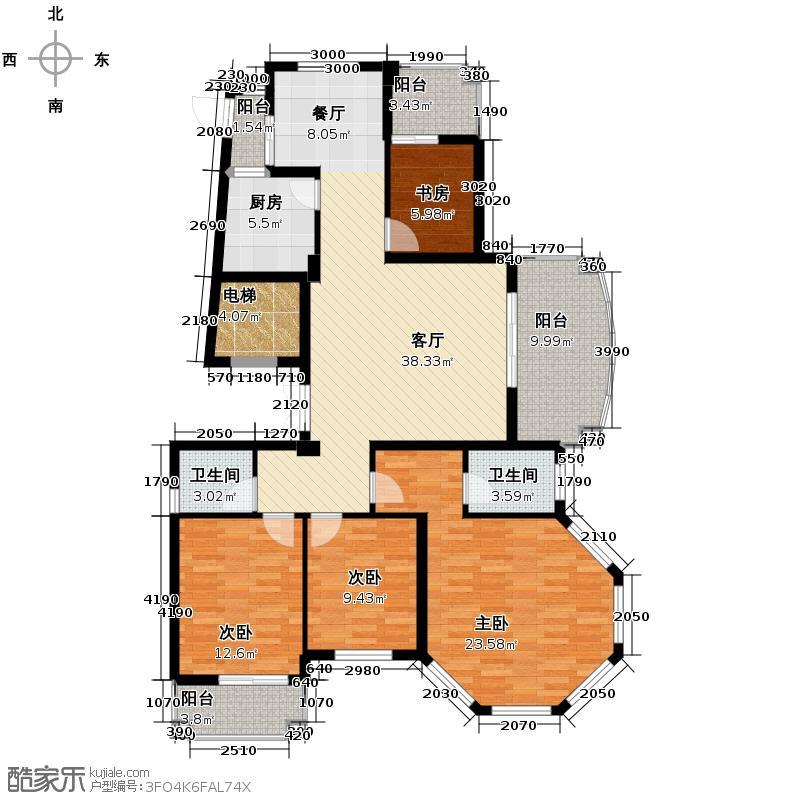 融侨观邸163.00㎡户型4室1厅2卫1厨