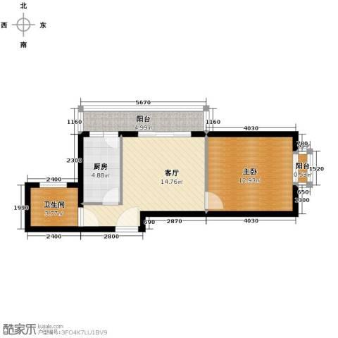 新世家小区1室1厅1卫0厨59.00㎡户型图