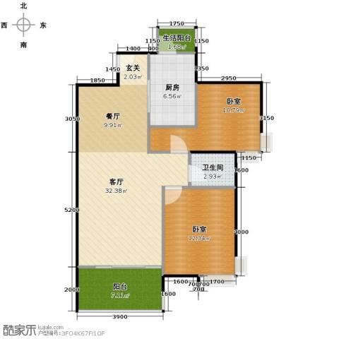 金域中央天玺1厅1卫1厨99.00㎡户型图