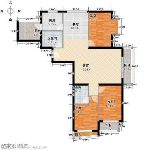 新世家小区3室2厅2卫0厨148.00㎡户型图