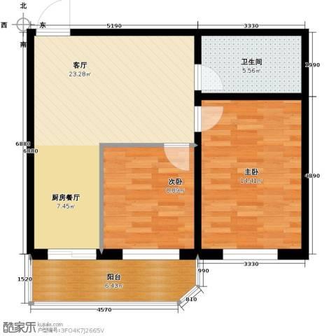 江南帝景83.00㎡户型图