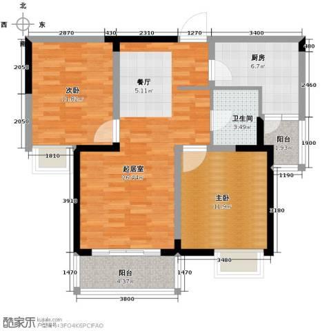 彩虹湖2室2厅1卫0厨104.00㎡户型图