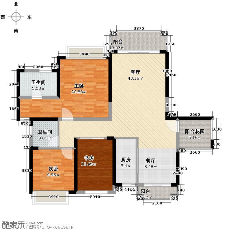 锦绣半岛139.00㎡东区15座02单元户型3室2厅2卫