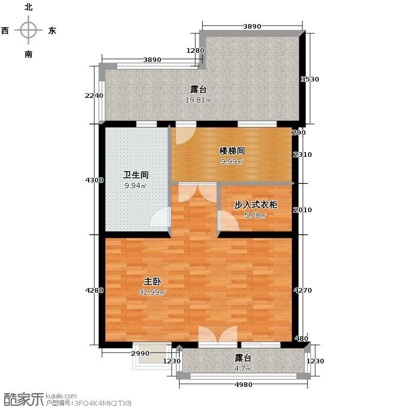 南湖壹�67.00㎡塞纳左岸墅三层户型1室1卫