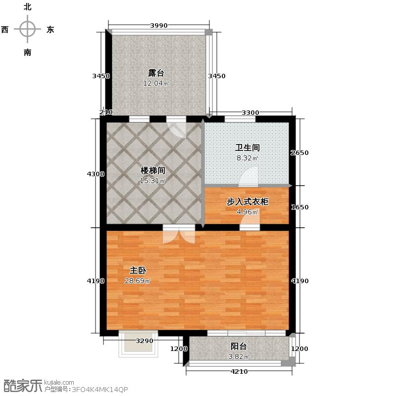 南湖壹�66.00㎡尚博尔城堡三层户型1室1卫
