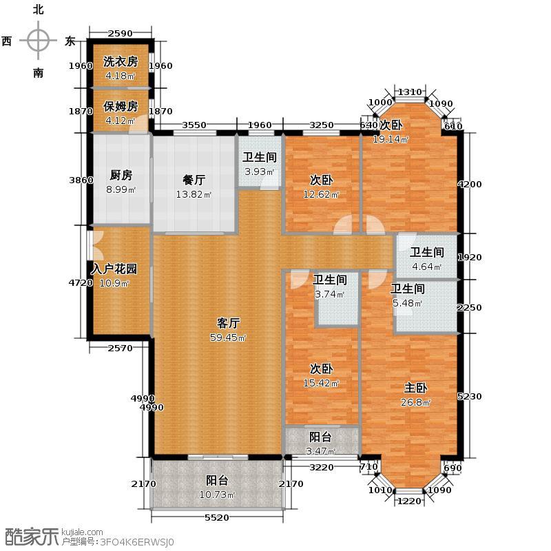 中贸广场219.90㎡E户型10室