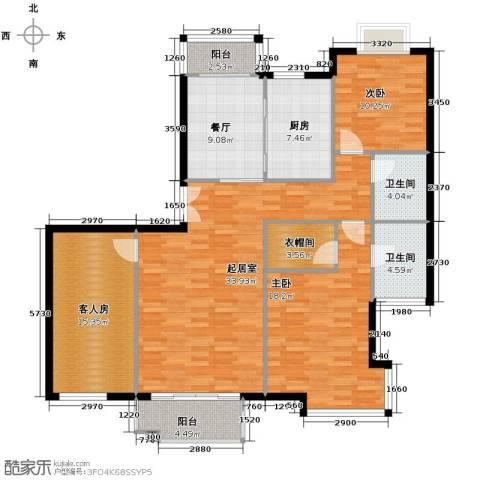 海河大道宽景公寓157.00㎡户型图
