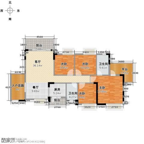 格兰名筑4室1厅2卫1厨146.00㎡户型图