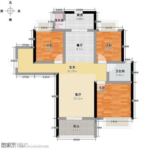 沂龙湾润园102.00㎡户型图