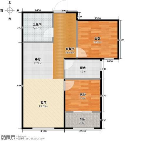 天成・明月洲2室2厅1卫0厨83.00㎡户型图