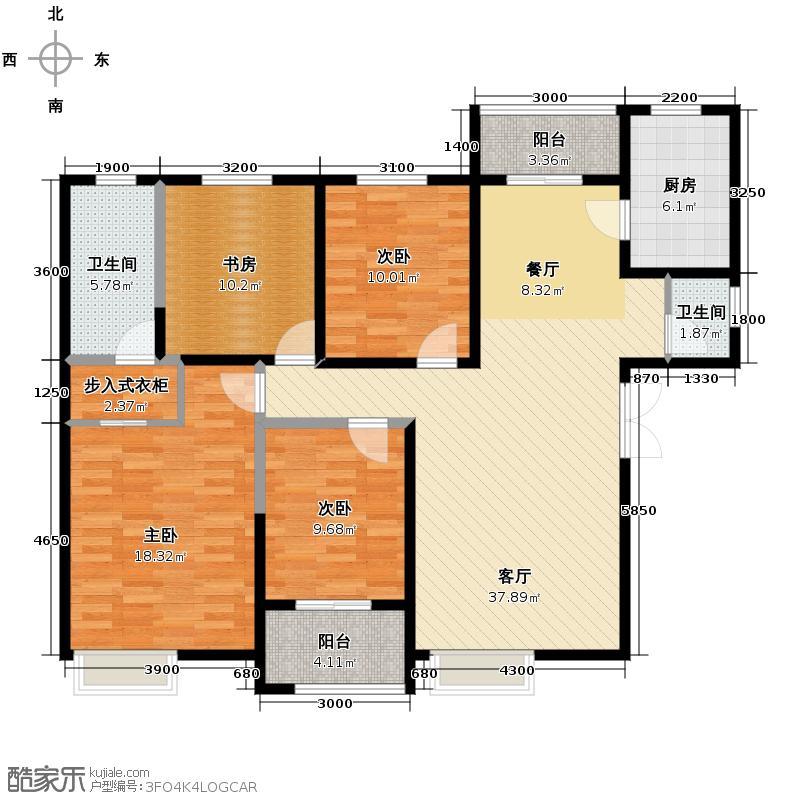 金业缇香山145.10㎡5#6#A户型4室1厅2卫1厨