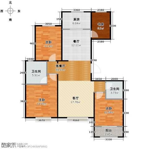 天成・明月洲3室2厅2卫0厨139.00㎡户型图