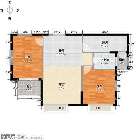 凤凰御景2室2厅1卫0厨135.39㎡户型图
