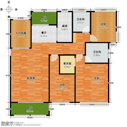 紫御府3室2厅2卫0厨139.00㎡户型图