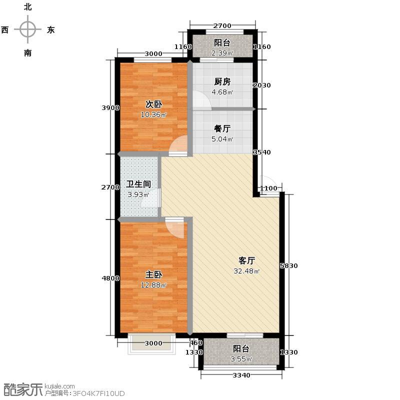 步阳江南甲第94.00㎡户型10室