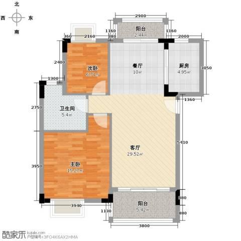 华标荔苑2室2厅1卫0厨84.00㎡户型图
