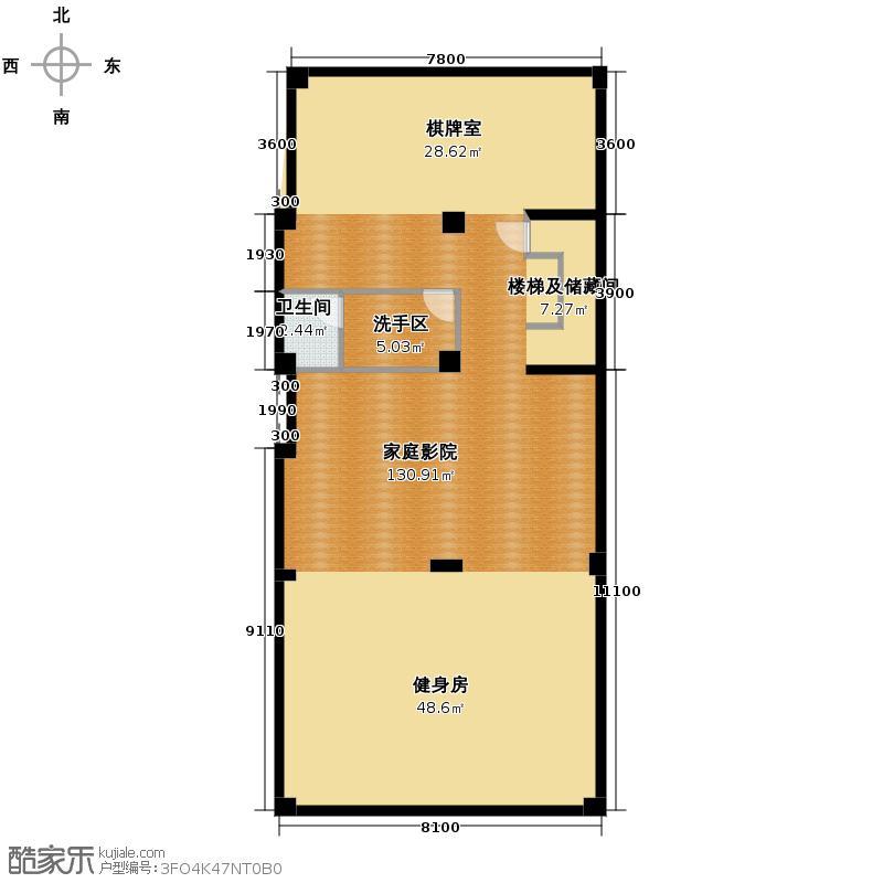 海亮九玺【九台别墅】494.90㎡A1-04户型1卫