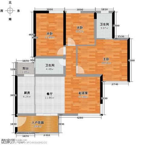 长江楚韵3室2厅2卫0厨110.00㎡户型图