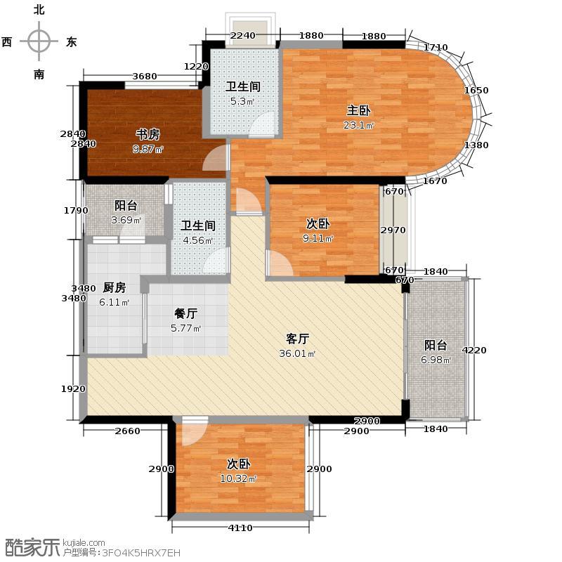恒大名都142.23㎡26栋2-18层7号户型3室2厅2卫