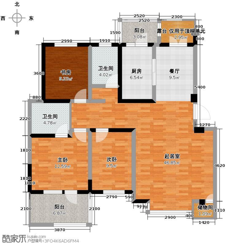 理想城124.36㎡洋房户型10室