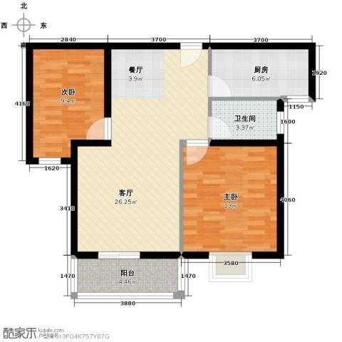 滨海国际2室2厅1卫0厨94.00㎡户型图