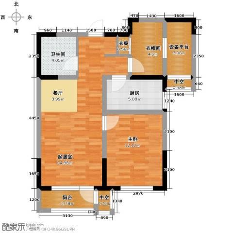 联发第五街1室0厅1卫1厨80.00㎡户型图