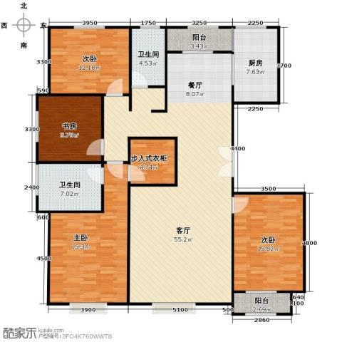 亿利城文澜雅筑4室2厅2卫0厨182.00㎡户型图