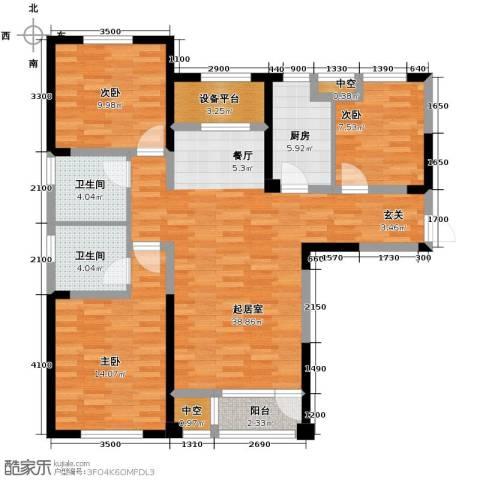 联发第五街3室2厅2卫0厨119.00㎡户型图