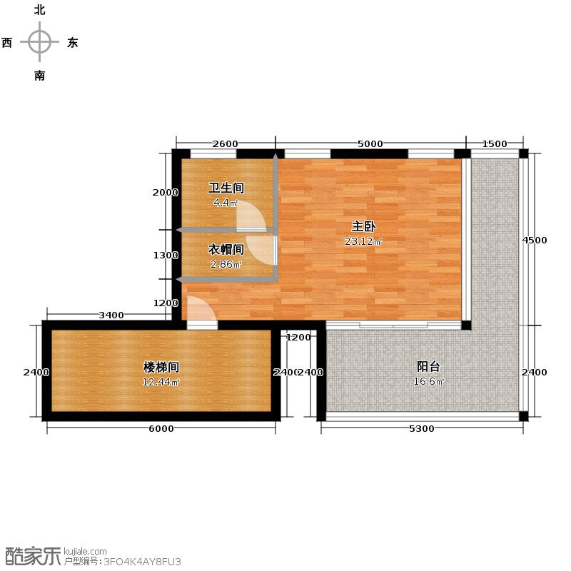 龙栖湾・波波利海岸206.60㎡别墅2-夹层户型1室1卫
