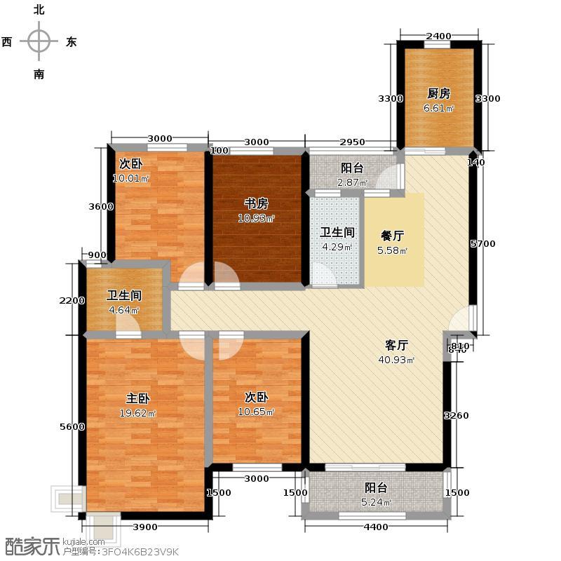 航天双城132.86㎡E2户型4室2厅2卫