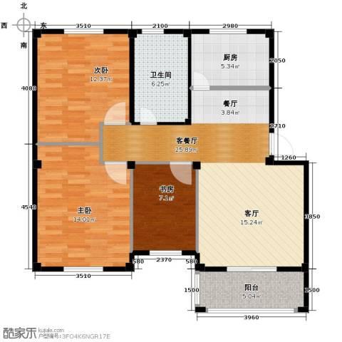 东海明园3室2厅1卫0厨89.00㎡户型图